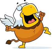 Cartoon Griffin Dancing royalty free stock photo