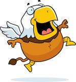 Cartoon Griffin Jumping vector illustration