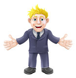Blonde businessman cartoon Stock Image