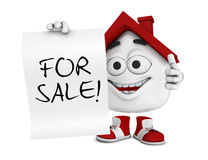 Happy house for sale Royalty Free Stock Image