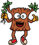 Cartoon illustration of a happy tree. Vector character Stock Image