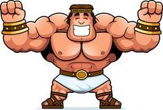 Cartoon Hercules Celebrating. A cartoon illustration of Hercules celebrating Stock Photography