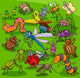 Cartoon insects animal characters group royalty free illustration
