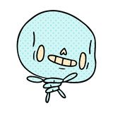 Cartoon illustration kawaii cute dead skeleton. A creative cartoon kawaii cute dead skeleton vector illustration