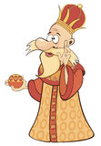 A cartoon illustration of a king. Russian Empire Royalty Free Stock Image