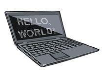 Cartoon illustration of laptop Stock Photography