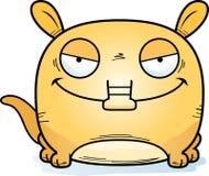 Cartoon Devious Aardvark. A cartoon illustration of a little aardvark with a devious expression Stock Photo