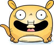 Cartoon Aardvark Smiling. A cartoon illustration of a little aardvark happy and smiling Royalty Free Stock Photo