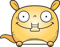 Cartoon Aardvark Peeking. A cartoon illustration of a little aardvark peeking over an object Stock Image
