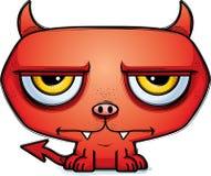 Calm Little Cartoon Devil. A cartoon illustration of a little devil looking calm Stock Image