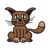 Cartoon illustration of little kitten vector illustration