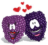 Cartoon illustration of lover berries Royalty Free Stock Photo