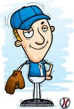 Confident Cartoon Baseball Player. A cartoon illustration of a man baseball player looking confident vector illustration