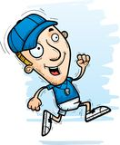 Cartoon Man Coach Running. A cartoon illustration of a man coach running stock illustration