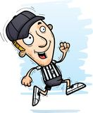 Cartoon Man Referee Running. A cartoon illustration of a man referee running royalty free illustration