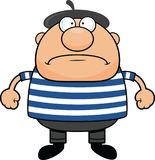 Cartoon Man in Beret Angry stock image