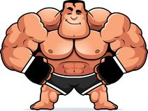 Cartoon MMA Fighter Confident. A cartoon illustration of an MMA fighter looking confident Royalty Free Stock Image