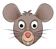Cartoon illustration of mouse head Stock Images