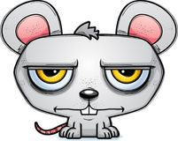 Calm Little Cartoon Mouse. A cartoon illustration of a mouse looking calm Royalty Free Stock Photography
