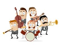 Cartoon illustration of a music band. Funny cartoon illustration of a music band royalty free illustration