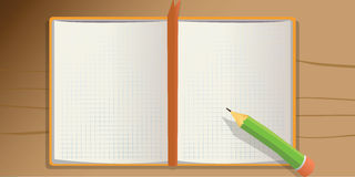 Notebook pencil Stock Photography
