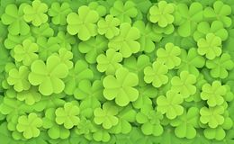 Cartoon Illustration Of Green Fresh Clovers Stock Photo