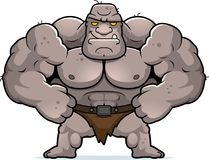 Cartoon Ogre Confident. A cartoon illustration of an ogre looking confident stock illustration