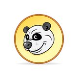 Cartoon Illustration of a Panda Bear Head. Royalty Free Stock Image