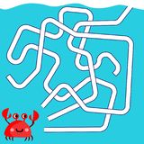 Cartoon Illustration of Paths or Maze Puzzle Activity Game. Kids learning games collection royalty free illustration