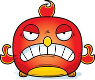 Angry Little Phoenix. A cartoon illustration of a phoenix bird looking angry Stock Photo