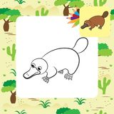 Cartoon illustration of platypus or duckbill animal Royalty Free Stock Photos