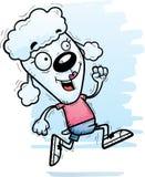 Cartoon Poodle Running. A cartoon illustration of a poodle running royalty free illustration