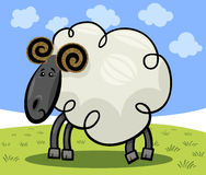 Cartoon illustration of ram or sheep Stock Images