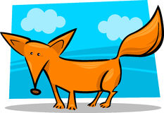 Cartoon illustration of red fox Stock Photography