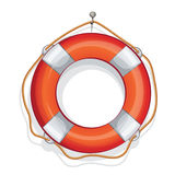 Cartoon illustration of red-white  lifebuoy Royalty Free Stock Images