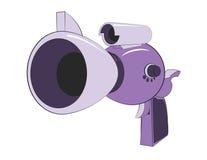 Alien Ray Gun. Cartoon illustration of a retro style alien ray gun vector illustration