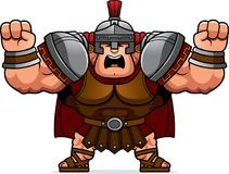 Cartoon Centurion Angry. A cartoon illustration of a Roman centurion looking angry Stock Photo