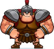 Cartoon Centurion Confident. A cartoon illustration of a Roman centurion looking confident Royalty Free Stock Image