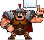 Cartoon Centurion Talking. A cartoon illustration of a Roman centurion talking Royalty Free Stock Images