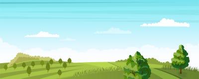 Rural summer landscape Stock Image