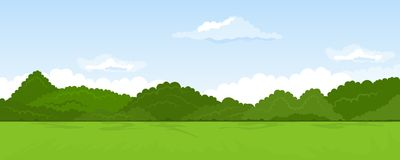 Rural summer landscape Stock Images