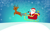 Cartoon illustration of Santa Claus in his sleigh. Royalty Free Stock Photography