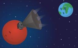 Cartoon illustration of the satellite from Mars Stock Photos