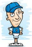Confident Cartoon Senior Coach. A cartoon illustration of a senior citizen man coach looking confident royalty free illustration