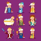 Cartoon Illustration Set国王的 向量例证