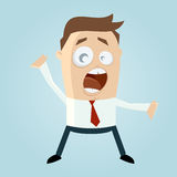 Shouting businessman Stock Photography