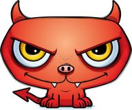 Sinister Little Cartoon Devil. A cartoon illustration of a sinister looking little devil Royalty Free Stock Photography
