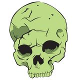 Green skull Royalty Free Stock Images