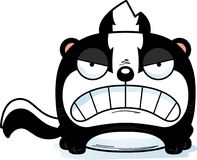 Cartoon Skunk Angry. A cartoon illustration of a skunk with an angry expression royalty free illustration