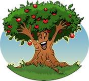 Apple tree cartoon royalty free stock images